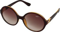 TOMMY FASHION Round Sunglasses(For Girls, Brown)