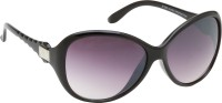 Riyan Oval Sunglasses(Black)