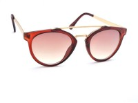 STACLE Round Sunglasses(For Men & Women, Brown)