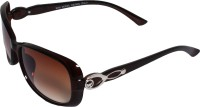 Veins VIBrownSG0013 Oval Sunglasses(Brown)