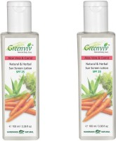 Greenviv Natural & Herbal Aloevera & Carrot Sunscreen - SPF 25 PA+++(200 ml)