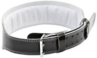 ADIDAS Adjustable Lumbar Leather Belt Back Support (XL, Black)