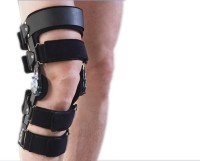 Dr.Med 2-Point Type Hinged Brace Left Knee, Calf & Thigh Support (L, Black)