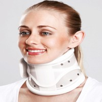 Tynor Cervical Collar Hard Adjustable Neck Support (S, Grey)