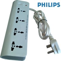View Philips Spike and Surge guard (White ) 4 Socket Surge Protector(White) Laptop Accessories Price Online(Philips)