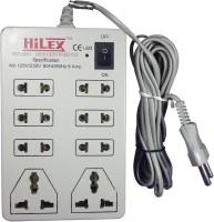 View Hilex HE PL 6616 8 Socket Surge Protector(White) Laptop Accessories Price Online(Hilex)