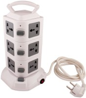 View HashTag Glam 4 Gadgets 3Floor 2USB Tower Spike Guard 11 Socket Surge Protector(White, Grey) Laptop Accessories Price Online(HashTag Glam 4 Gadgets)