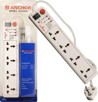 View Anchor 22047 4 Socket Surge Protector(White) Laptop Accessories Price Online(Anchor)