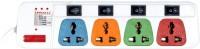 View Pinnacle PA143 4 Socket Surge Protector(Multicolor) Laptop Accessories Price Online(Pinnacle)