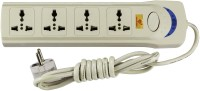 View ANNI CREATIONS Essential 4 Socket Surge Protector(White) Laptop Accessories Price Online(ANNI CREATIONS)