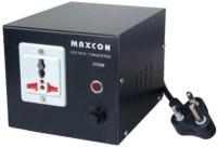 MX Professional Voltage Convertor - 2000 Watts (220 - 110 V) 1 Socket Surge Protector(Black)