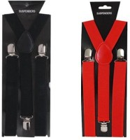 atyourdoor Y- Back Suspenders for Men(Red, Black)
