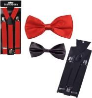 Swarn Y- Back Suspenders for Men(Red, Black)