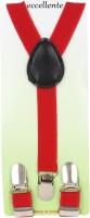 Eccellente Y- Back Suspenders for Boys(Red)
