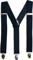 Urban Diseno Y- Back Suspenders for Men, Women(Blue)