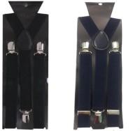 atyourdoor Y- Back Suspenders for Men(Black, Blue)