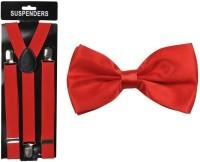 Mr. Willian Y- Back Suspenders for Men, Women(Red)