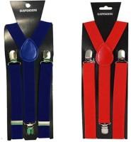 atyourdoor Y- Back Suspenders for Men(Blue, Red)