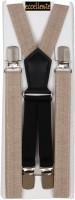 Eccellente Y- Back Suspenders for Men, Women(Beige)