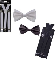 Mr. Willian Y- Back Suspenders for Men, Women(Black, White)