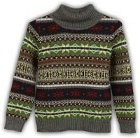 Lilliput Self Design Turtle Neck Casual Boys Multicolor Sweater