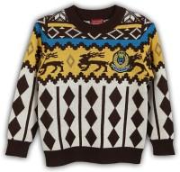 Lilliput Argyle Round Neck Casual Boys Multicolor Sweater