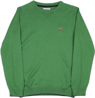 U S Polo Kids Round Neck Casual Boys Green Sweater