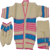 Born Baby Kids Woven V-neck Casual Baby Boys & Baby Girls Reversible Multicolor Sweater