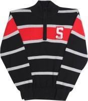 Gini & Jony Striped Casual Boys Black, Grey, Red sweater
