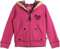 Barbie Solid V-neck Casual Girls Pink Sweater