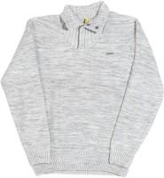 Gini & Jony Self Design Casual Boys Grey sweater