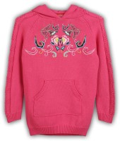 Lilliput Embroidered Turtle Neck Girls Pink Sweater
