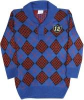 FS Mini Klub Self Design Casual Boys Black, Blue, Red sweater