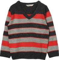 Beebay Striped V-neck Casual Boys Multicolor Sweater