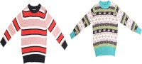 Crazeis Solid Round Neck Casual Boys Red, Green Sweater