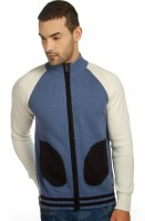 Provogue Solid Round Neck Casual Men Light Blue Sweater