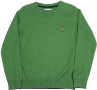 US Polo Kids Round Neck Casual Boys Green Sweater