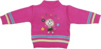 BABY BOO Embroidered Round Neck Formal Baby Boys & Baby Girls Red, Multicolor Sweater