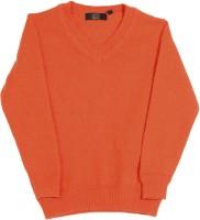 Gini & Jony Solid V-neck Casual Boys Orange sweater