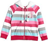 Barbie Full Sleeve Striped Girls Sweatshirt