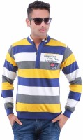 Oceanic Full Sleeve Striped Men's Sweatshirt