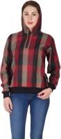 Hypernation Full Sleeve Checkered Womens Sweatshirt