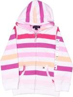 Tommy Hilfiger Full Sleeve Striped Girls Sweatshirt