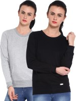 Espresso Full Sleeve Solid Women's Reversible Sweatshirt