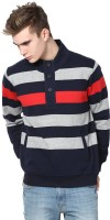 Mudo Full Sleeve Striped Men's Sweatshirt