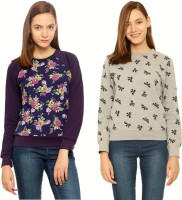 Vvoguish Full Sleeve Floral Print Womens Sweatshirt