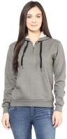 Hypernation Full Sleeve Solid Womens Sweatshirt