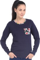 Espresso Full Sleeve Printed Women's Reversible Sweatshirt