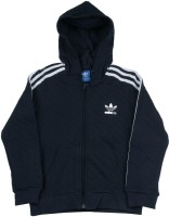 Adidas Full Sleeve Self Design Boys Sweatshirt