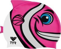 TYR Happy Fish Swim Silicone Swimming Cap(Pink)